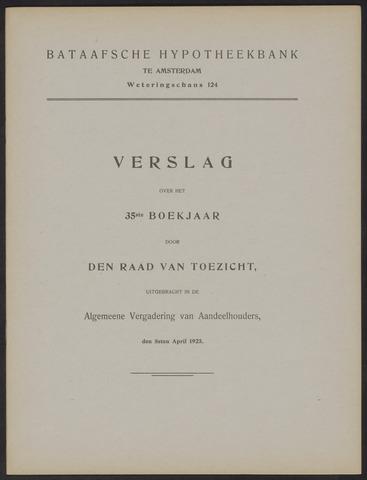 Jaarverslagen Bataafsche Hypotheekbank 1924