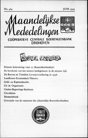 blad 'Maandelijkse Mededelingen' (CCB) 1959-06-01