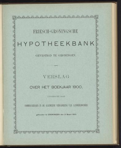 Jaarverslagen Friesch-Groningsche Hypotheekbank / FGH Bank 1900