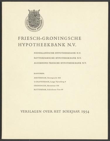 Jaarverslagen Friesch-Groningsche Hypotheekbank / FGH Bank 1954