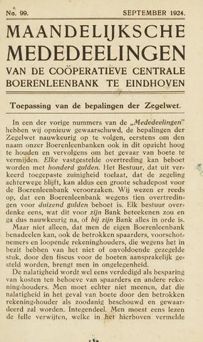 blad 'Maandelijkse Mededelingen' (CCB) 1924-09-01