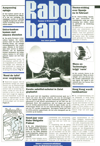 blad 'Raboband' 1990-01-26