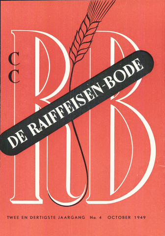 blad 'De Raiffeisen-bode' (CCRB) 1949-10-01