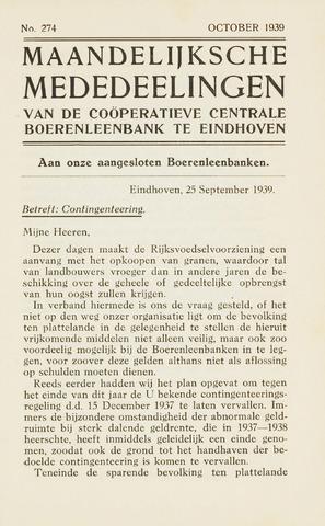 blad 'Maandelijkse Mededelingen' (CCB) 1939-10-01