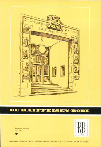 blad 'De Raiffeisen-bode' (CCRB) 1958-07-01