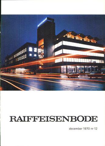 blad 'De Raiffeisen-bode' (CCRB) 1970-12-01