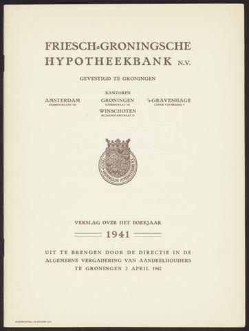 Jaarverslagen Friesch-Groningsche Hypotheekbank / FGH Bank 1941