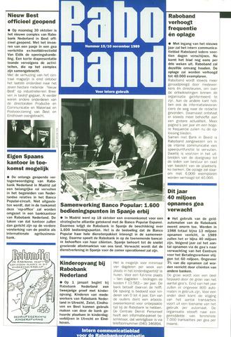 blad 'Raboband' 1989-11-10