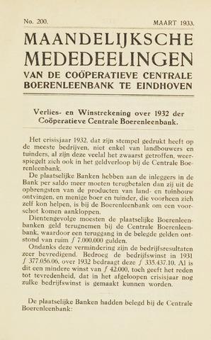 blad 'Maandelijkse Mededelingen' (CCB) 1933-03-01