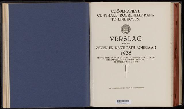 Jaarverslagen Coöperatieve Centrale Boerenleenbank 1935-12-31