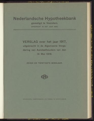 Jaarverslagen Nederlandsche Hypotheekbank 1917