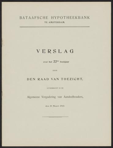 Jaarverslagen Bataafsche Hypotheekbank 1911