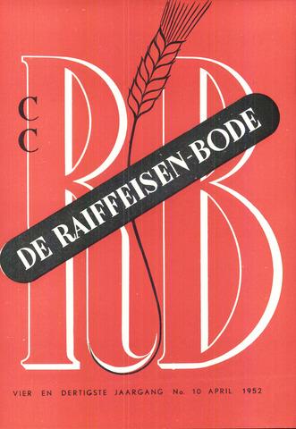 blad 'De Raiffeisen-bode' (CCRB) 1952-04-01