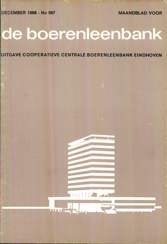 blad 'de boerenleenbank' (CCB) 1968-12-01