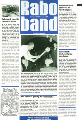 blad 'Raboband' 1989-02-24