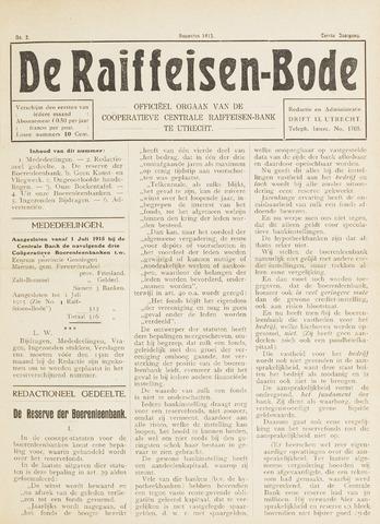 blad 'De Raiffeisen-bode' (CCRB) 1915-08-01
