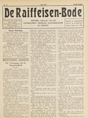 blad 'De Raiffeisen-bode' (CCRB) 1917-04-01