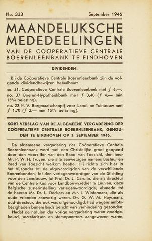 blad 'Maandelijkse Mededelingen' (CCB) 1946-09-01