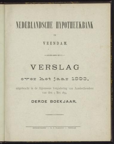 Jaarverslagen Nederlandsche Hypotheekbank 1893