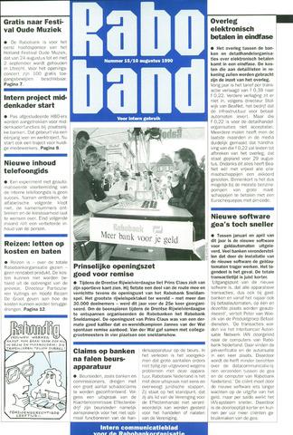 blad 'Raboband' 1990-08-10
