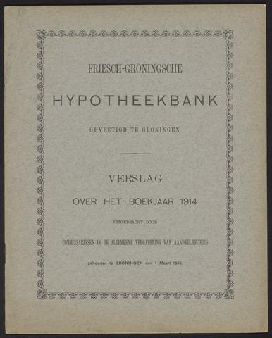 Jaarverslagen Friesch-Groningsche Hypotheekbank / FGH Bank 1914