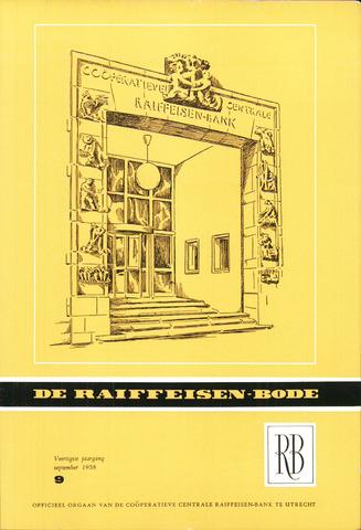 blad 'De Raiffeisen-bode' (CCRB) 1958-09-01