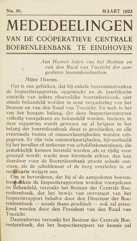 blad 'Maandelijkse Mededelingen' (CCB) 1923-03-01