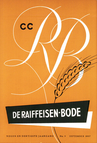 blad 'De Raiffeisen-bode' (CCRB) 1957-09-01