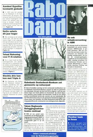 blad 'Raboband' 1993-01-25