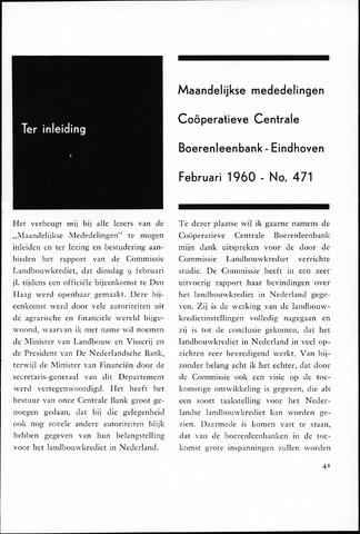 blad 'Maandelijkse Mededelingen' (CCB) 1960-02-01