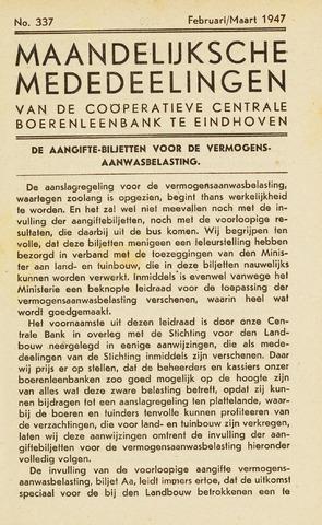 blad 'Maandelijkse Mededelingen' (CCB) 1947-02-01