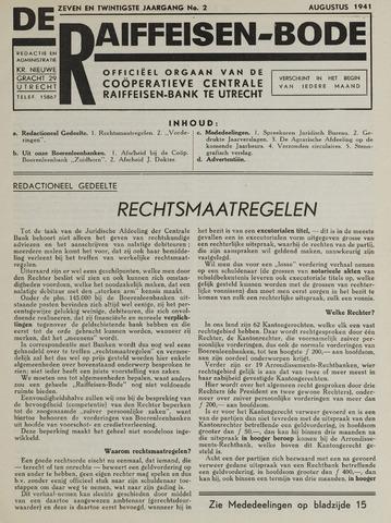 blad 'De Raiffeisen-bode' (CCRB) 1941-08-01