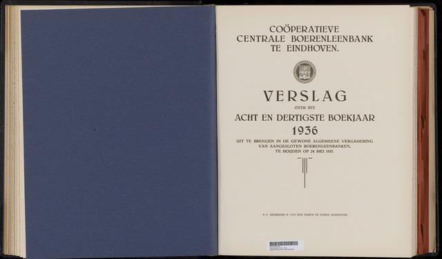 Jaarverslagen Coöperatieve Centrale Boerenleenbank 1936