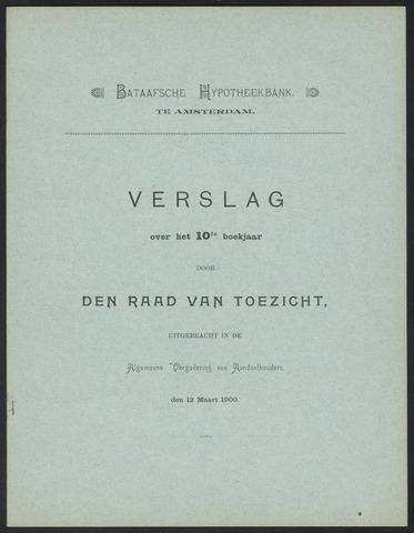 Jaarverslagen Bataafsche Hypotheekbank 1899