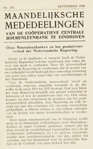 blad 'Maandelijkse Mededelingen' (CCB) 1936-09-01