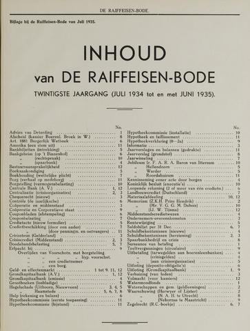 blad 'De Raiffeisen-bode' (CCRB) 1934-07-01