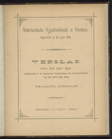 Jaarverslagen Nederlandsche Hypotheekbank 1902