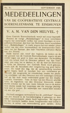 blad 'Maandelijkse Mededelingen' (CCB) 1920-09-01