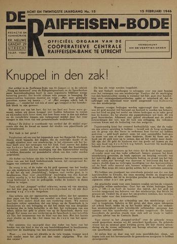 blad 'De Raiffeisen-bode' (CCRB) 1946-02-15