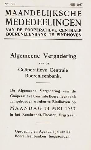 blad 'Maandelijkse Mededelingen' (CCB) 1937-05-01