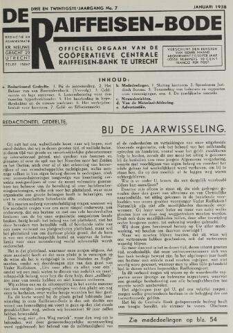 blad 'De Raiffeisen-bode' (CCRB) 1938