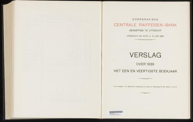 Jaarverslagen Coöperatieve Centrale Raiffeisen-Bank 1939-12-31