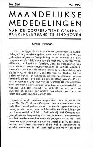 blad 'Maandelijkse Mededelingen' (CCB) 1950-05-01