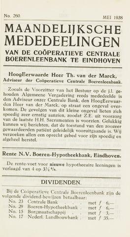 blad 'Maandelijkse Mededelingen' (CCB) 1938-05-01