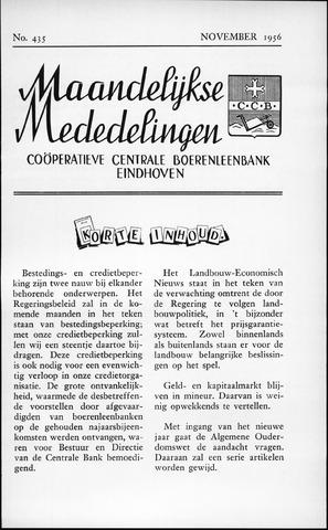 blad 'Maandelijkse Mededelingen' (CCB) 1956-11-01