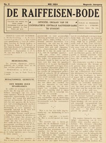 blad 'De Raiffeisen-bode' (CCRB) 1924-05-01
