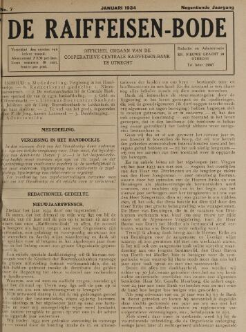 blad 'De Raiffeisen-bode' (CCRB) 1934