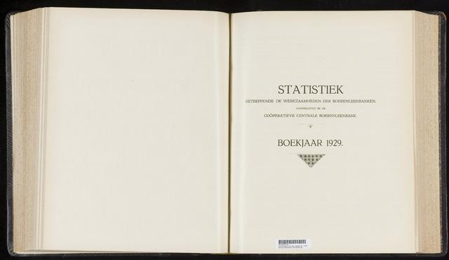 Statistiek aangesloten banken CCB 1929