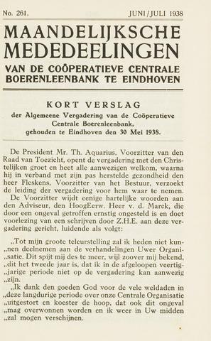 blad 'Maandelijkse Mededelingen' (CCB) 1938-06-01