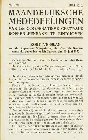 blad 'Maandelijkse Mededelingen' (CCB) 1930-07-01